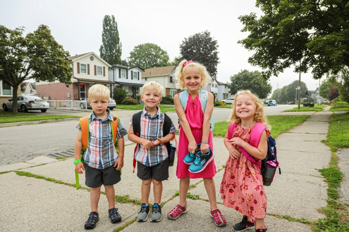 Our Triplets Started School – Que the Crying